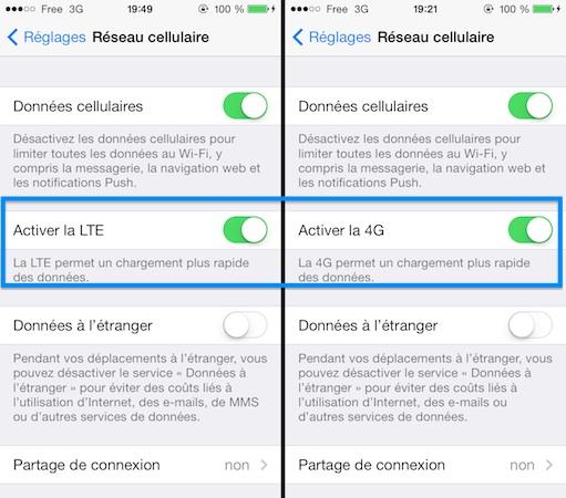 Free Mobile : activer la 4G sur iPhone 5S et iPhone 5C