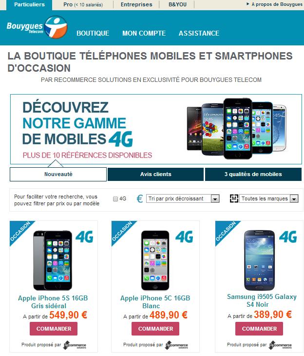 bouygues telecom permet d 39 acheter des iphone 5s iphone. Black Bedroom Furniture Sets. Home Design Ideas