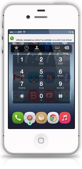 Cydia : CallBar, gérer ses appels depuis n'importe quelle application