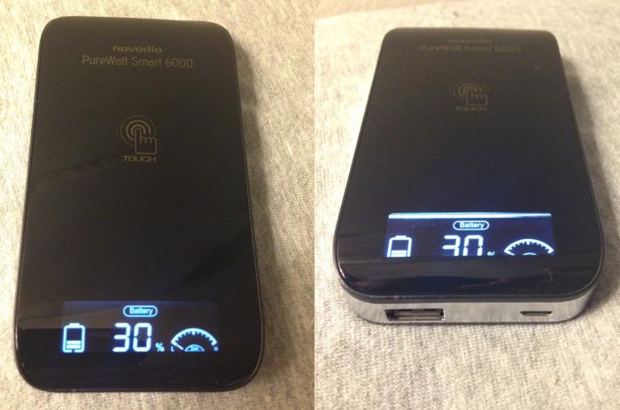 Test :  Batterie externe tactile 6000 mAh Novodio PureWatt Smart