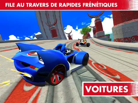 Sonic & All-Stars Racing Transformed disponible sur l'App Store