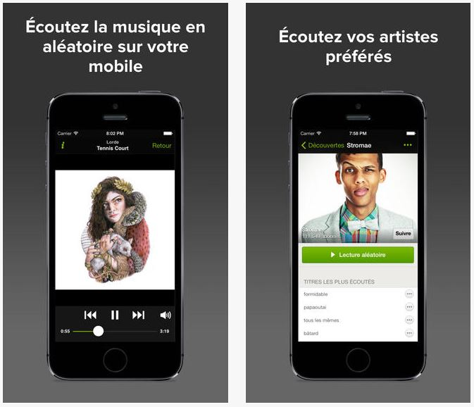 spotify l 39 coute gratuite disponible sur iphone ipad. Black Bedroom Furniture Sets. Home Design Ideas