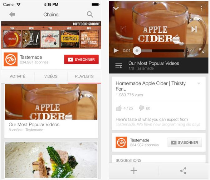 App Store : Youtube adopte le clavier iOS 7