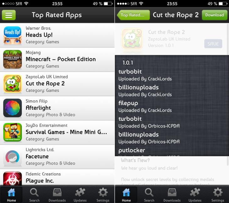 Zeusmos : télécharger gratuitement des applications IPA sur iOS 7