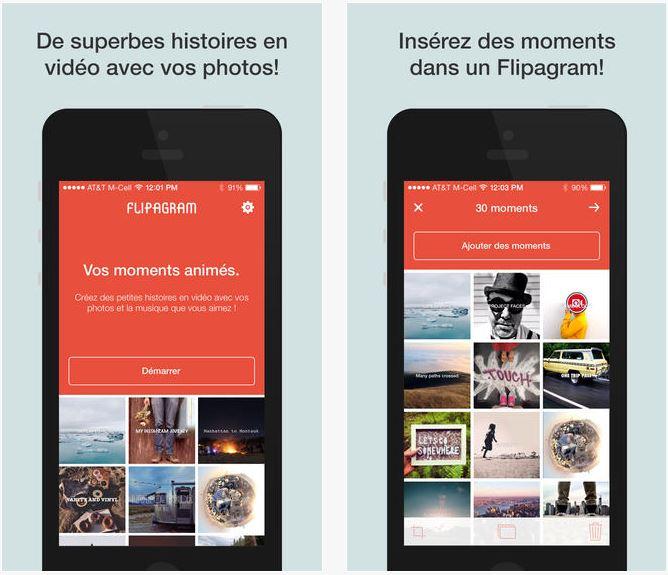 Flipagram : créer un diaporama avec ses photos Instagram