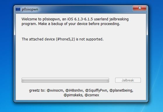 P0sixspwn : Jailbreak Untethered iOS 6.1.3/6.1.4/6.1.5 disponible sur Windows