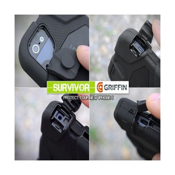 Test : Coque iPhone 5/5S Griffin Survivor noire