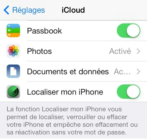 iOS 7 : une faille permet de désactiver «Localiser mon iPhone»
