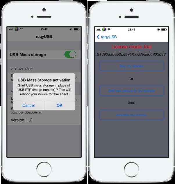 Cydia : RoqyUSB7, utiliser son iPhone ou iPad comme clé USB