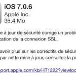 iOS 7.0.6 & iOS 6.1.6 (iPhone 3GS, iPod Touch 4G) sont disponibles
