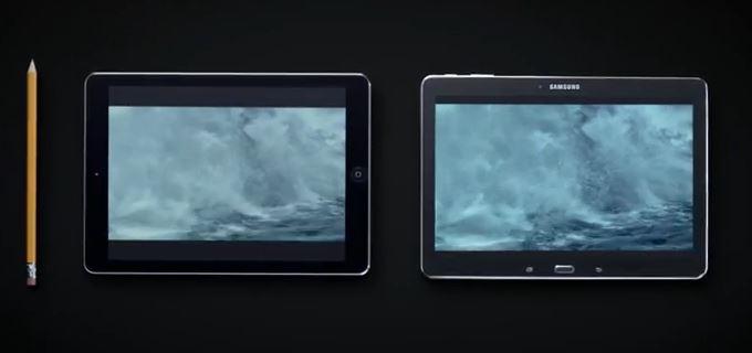 Samsung tire parti de la publicité de l'iPad Air avec le crayon