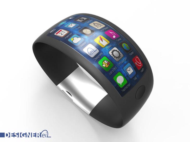 iWatch : concept avec écran incurvé et capteurs sensoriels