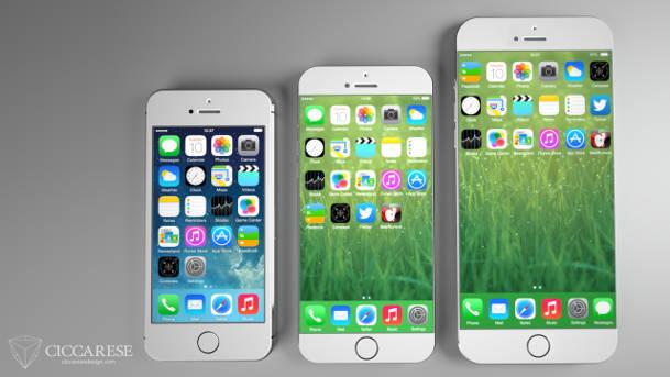 iPhone 6 : concept avec iOS 7 sur écrans  4,7 et 5,5 pouces