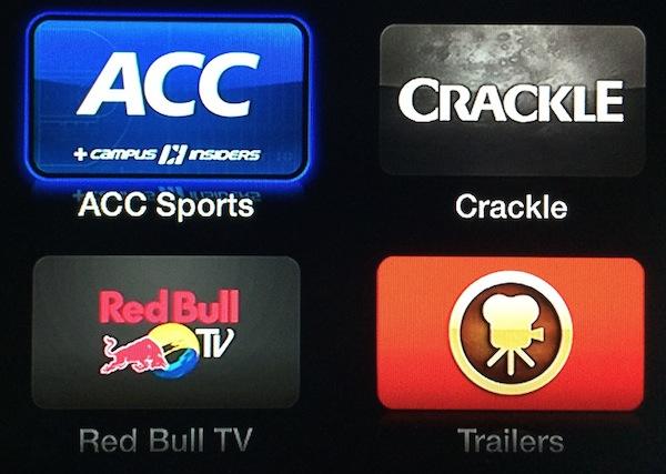Apple TV : ajout de la chaîne ACC Sports