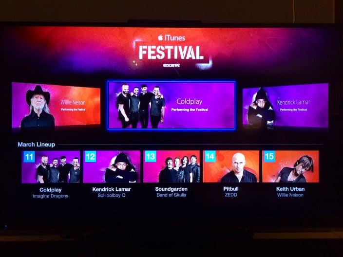iTunes Festival : la chaîne débarque sur l'Apple TV