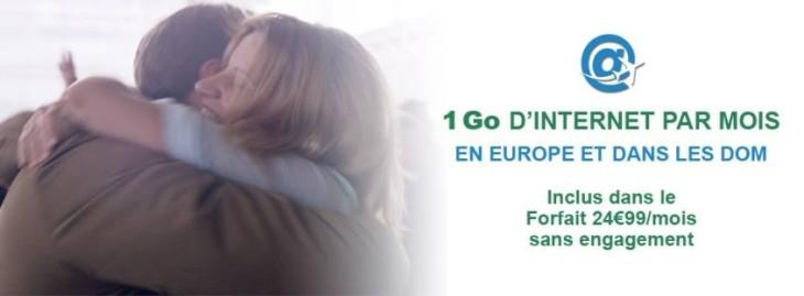 B&You : 1 Go d'Internet par mois en Europe et dans les DOM