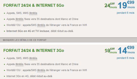 B&You : promotion sur les forfaits 4G à 14,99€ et 19,99€/mois