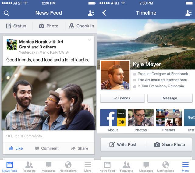 Facebook iOS : publication et partage améliorés sur iPad