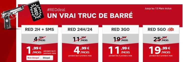 SFR : promotion sur tous les forfaits Red (#REDdeal)