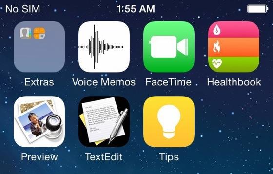 iOS 8 : les applications Healthbook, TextEdit, et Aperçu révélées