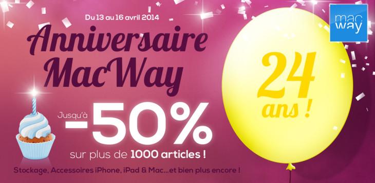 Anniversaire MacWay : jusqu'à -50% sur plus de 1000 articles