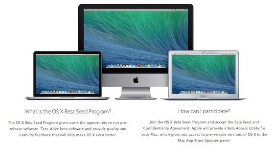 Apple rend accessible à tous son programme de bêta d'OS X