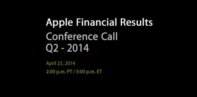 Apple : résultats financiers du Q2 2014 publiés le 23 avril