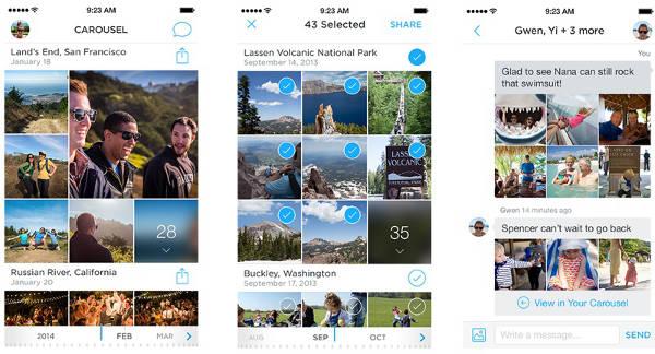 Dropbox annonce l'application photo Carousel & Mailbox pour OS X