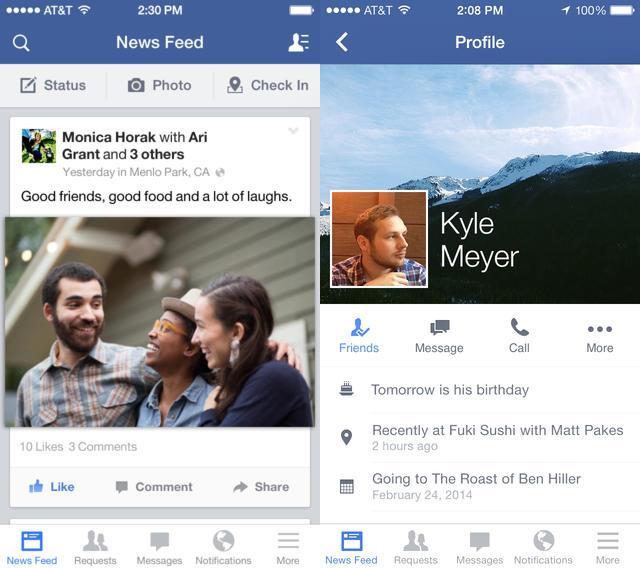 Facebook iOS : ajout des réponses aux commentaires de Pages
