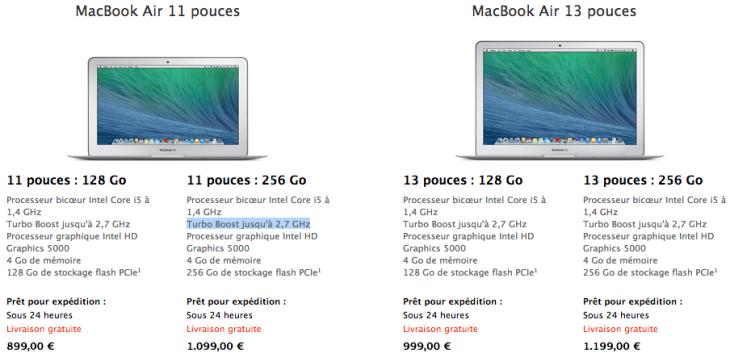MacBook Air : nouveaux processeurs et baisse des prix sur l'Apple Store