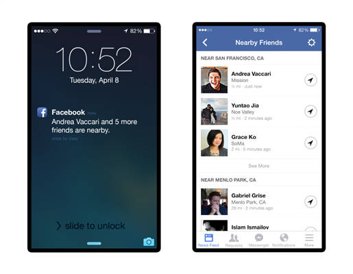 """Facebook : """"Nearby Friends"""", savoir quand ses amis sont à proximité"""