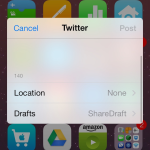 Cydia : ShareDraft, enregistrer ses posts Facebook & Twitter