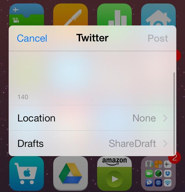 Cydia : ShareDraft, enregistrer ses posts Facebook & Twitter