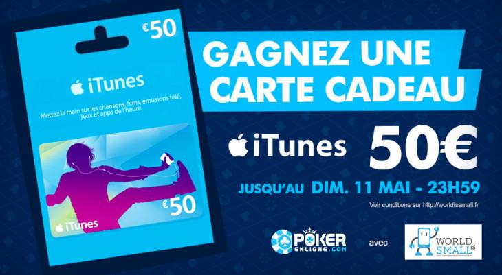 Concours : une carte cadeau iTunes de 50€ à gagner