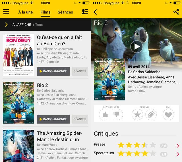 Allociné : nouveau design et contenus enrichis sur iPhone