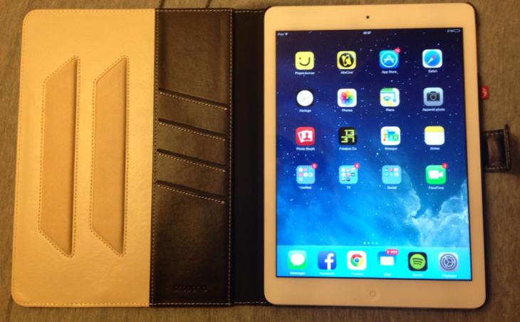 Test : étui iPad Air en simili cuir avec doublure en aluminium Proporta
