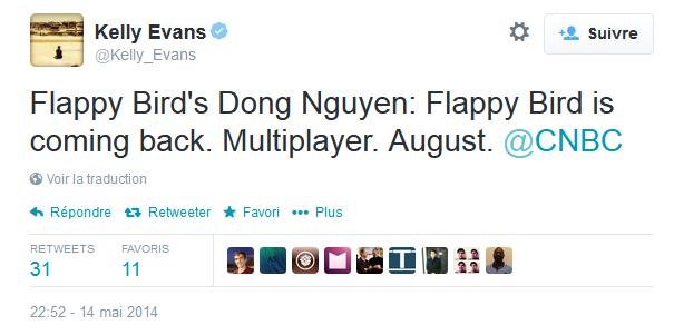 Flappy Bird : retour en août avec un mode multijoueur