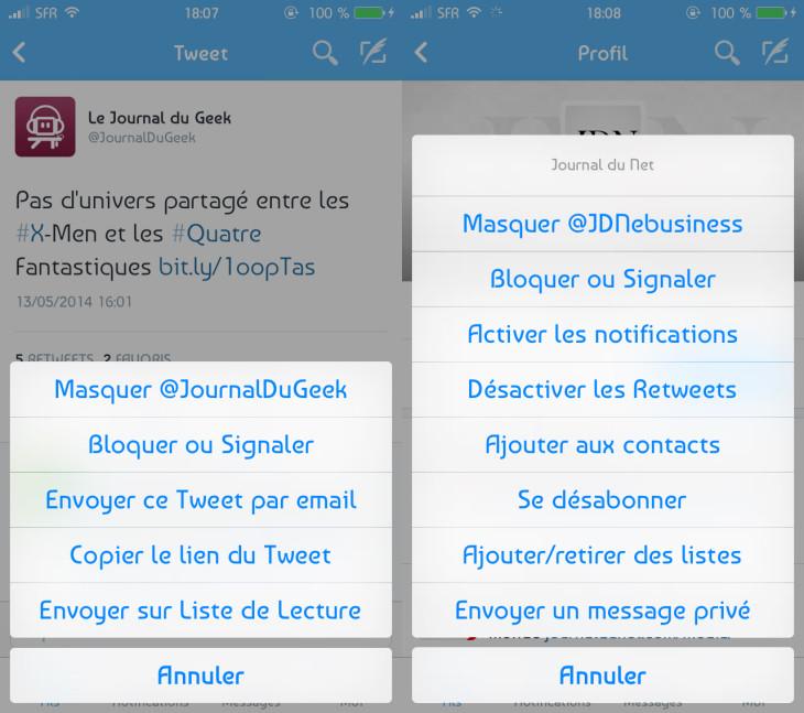 """Twitter : fonction """"Mute"""" et nouveautés iPad"""