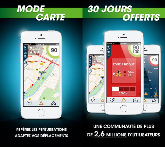 iCoyote désormais gratuit sur iPhone pour concurrencer Waze