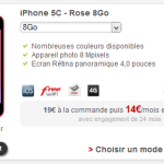 Free Mobile : l'iPhone 5C 8Go disponible à la location