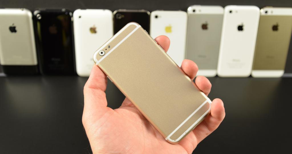 iPhone 6 : une maquette comparée à tous les iPhone