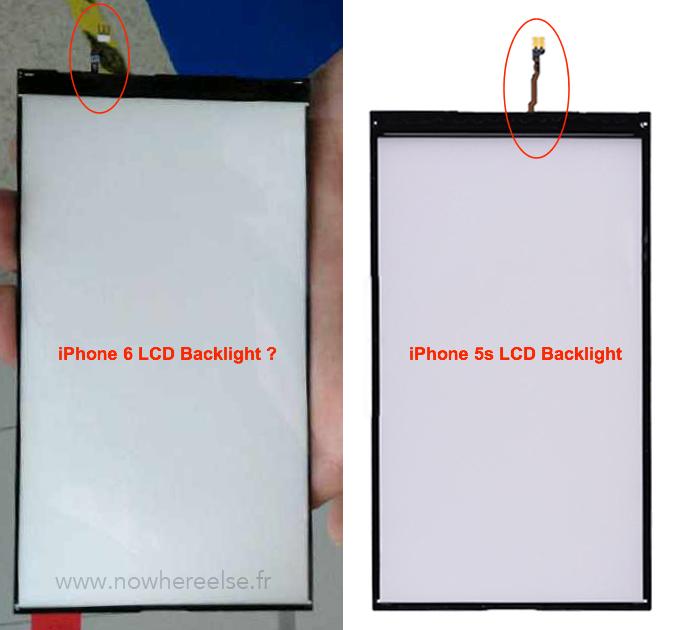 iPhone 6 : des photos du panneau de rétroéclairage ?