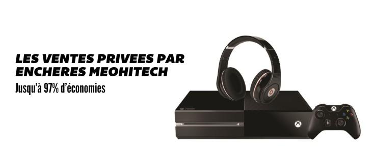 MeoHitech : les ventes privées high tech par enchères