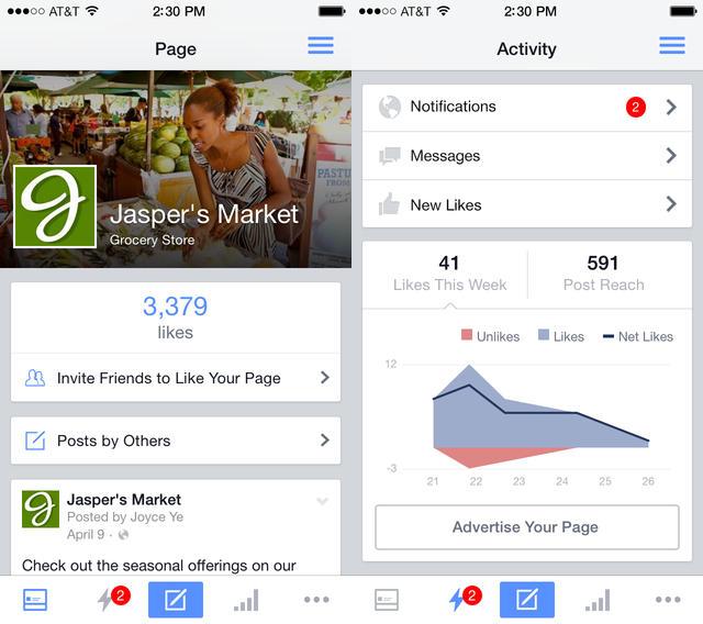 Gestionnaire de Pages Facebook : design repensé et plusieurs nouveautés