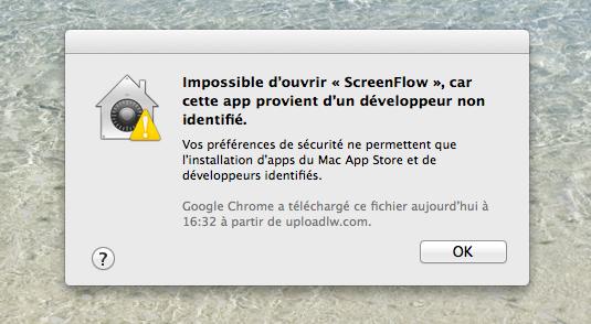 Mac : ouvrir une app d'un développeur non identifié