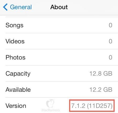 iOS 7.1.2 : sortie début juillet, quelles nouveautés ?