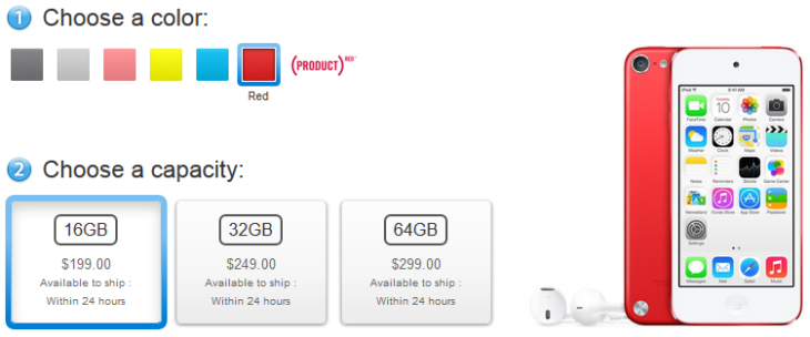 iPod Touch : caméra arrière (16 Go) et baisse des prix (32 & 64 Go)