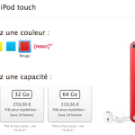 Apple Store : le nouvel iPod Touch 16 Go disponible en France