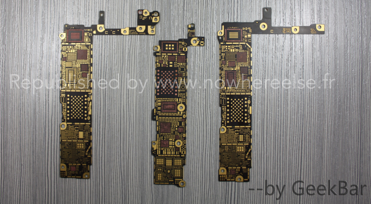iPhone 6 : photos du circuit imprimé du modèle phablette ?