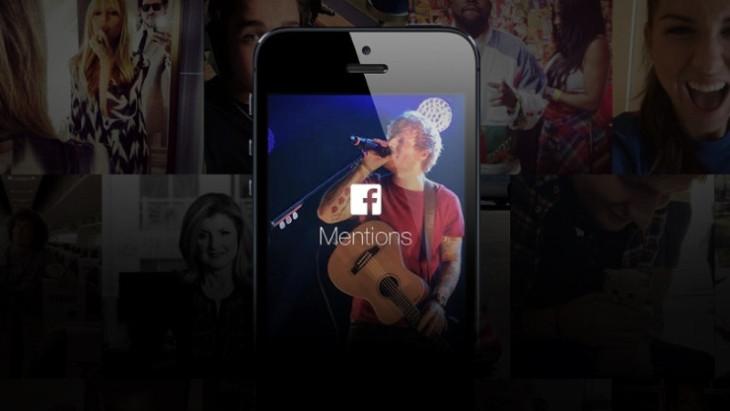 Facebook Mentions : l'application des célébrités arrive aux US